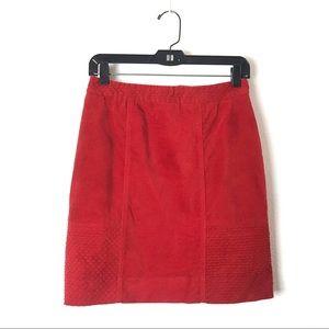 Anthropologie • ETT:twa Velvet Quilted Skirt